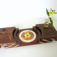 Vintage HiMark Unique FoldOut Wood Serving Tray  by ThirdShift