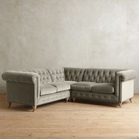 Velvet Lyre Chesterfield Sectional, Wilcox by Anthropologie