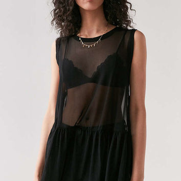Truly Madly Deeply Mesh Babydoll Tank Top - Urban Outfitters