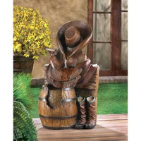 Wild West Water Fountain Outdoor Garden Yard Lawn  Decoration