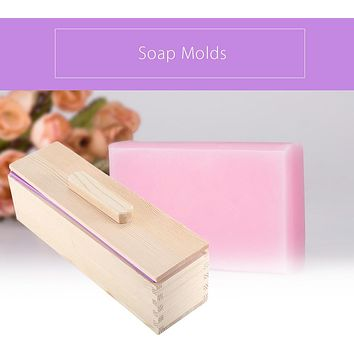 Rectangular Wooden Soap Mold with Silicone Liner and Cover Loaf Soap Mold Tool DIY Soap Candle Mold 900/1200g Mold Making Tool