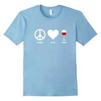 Peace Love Wine T-Shirt for Wine Lovers