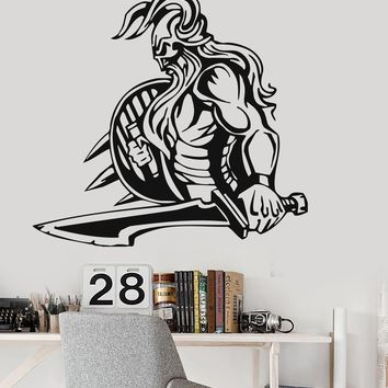 Vinyl Wall Decal Viking Medieval Knight War North Stickers Mural (ig586)