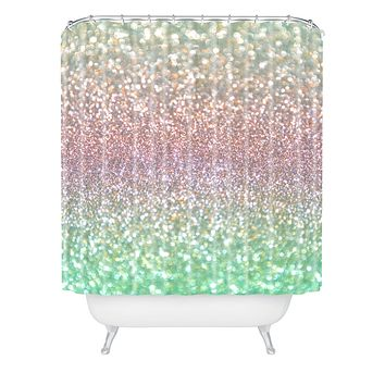 Lisa Argyropoulos Sea Mist Shimmer Shower Curtain