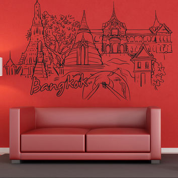 Vinyl Wall Decal Sticker Bangkok #1376