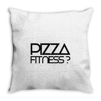 pizza fitness Throw Pillow
