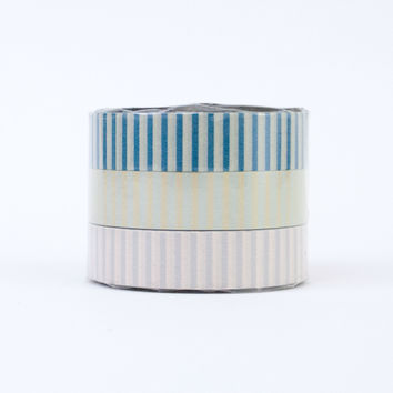 Classiky Washi Tape Trio (N) Calm Stripe