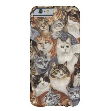 Vintage Whimsical Cat Pattern iPhone 6 Case