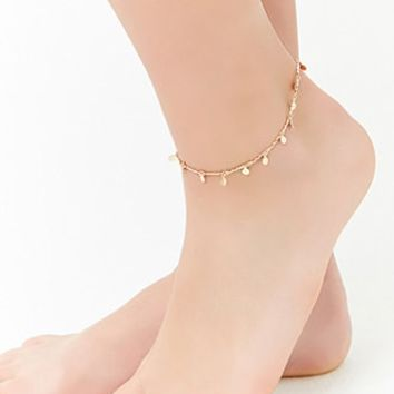 Disc-Charm Chain Anklet