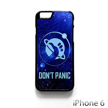 Hitchhiker's Guide To The Galaxy Don't Panic for Iphone 4/4S Iphone 5/5S/5C Iphone 6/6S/6S Plus/6 Plus Phone case