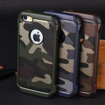 Camouflage Case for iphone 5 5S Se Case for iPhone X 4S Camo Military Army Cover Capinhas Coque for iphone 6 6S 7 8 Plus Case
