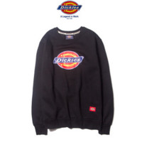 """Dickies"" Fashion long sleeve sweater thick Black"
