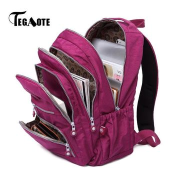 TEGAOTE Backpacks Women School Backpack for Teenage Girls Female Mochila Feminina Laptop Bagpack Travel Bags Casual Sac A Dos