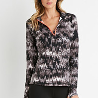 Abstract Print Athletic Pullover