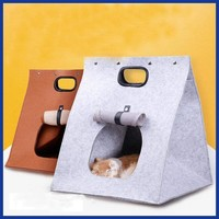 Pet Cat Warm Foldable Sleeping Bag Bed Kennel Cats Puppy House bed Cave Little  Cat house Washable.