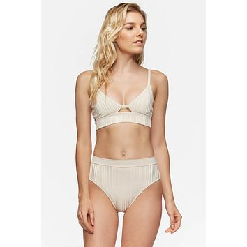 TAVIK Swimwear Juliet Top in Tapioca Slinky Rib