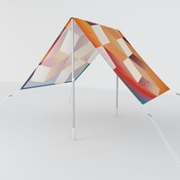 Oil Slick Cubes Sun Shade by duckyb