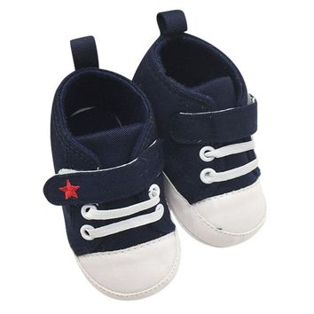 Baby Boy Shoes Baby Girls Boys Soft Soled Crib Kids Sneakers Newborn 0-18 Months First