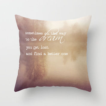 sometimes on the way to the dream Throw Pillow by Sylvia Cook Photography | Society6