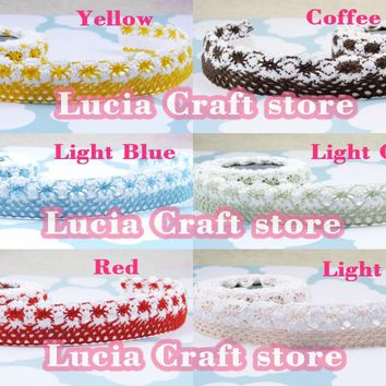SALE! Lucia Crafts 20mm Multi Colors Options Adhesive Tape Cotton Fabric Lace Tape DIY Crafts 2y/lot  006002