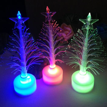 3D LED Lamp Christmas Xmas Tree Color Changing LED Light Lamp Home Decoration Vovotrade