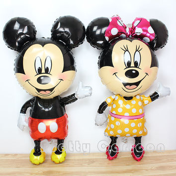 Large 45inch mickey balloons Minnie Mouse Airwalker helium Balloon Mickey Mouse balloon minnie mouse&mickey mouse party supplies