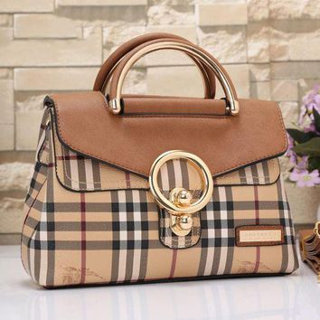 DCCKOB6D Burberry Women Fashion Leather Satchel Tote Shoulder Bag Handbag