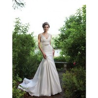 Trumpet / mermaid sleeveless taffeta floor-length bridal gown