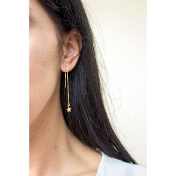 Stellar Threader Earrings - Christine Elizabeth Jewelry