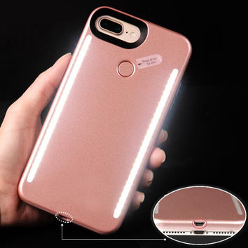 Luxury Luminous Phone Cover LED Light Selfie Phone Case for iPhone 7 7 Plus 6 6S 6 6S Plus