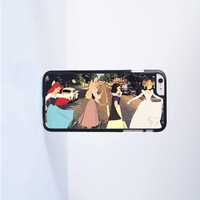 Funny Disney Princess Abbey Road Plastic Case Cover for Apple iPhone 6 Plus 4 4s 5 5s 5c 6