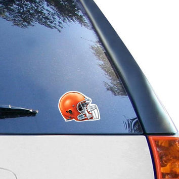 Cleveland Browns WinCraft Helmet 4'' x 4'' Color Perfect Cut Decal
