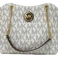 Michael Kors Jet Set Travel Lg Chain Tote - Vanilla