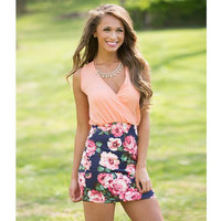Summer Comfortable One Piece Patchwork Floral Dress for Women