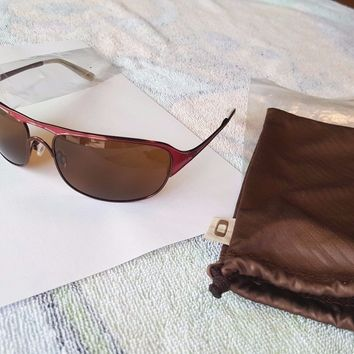 Oakley Cover Story sunglasses hot pink red frame bronze lenses OO4042-04