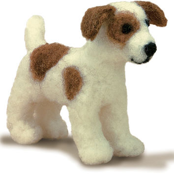 feltworks little felted characters-dog