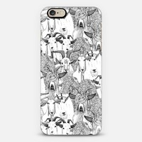 just goats black white iPhone 6 case by Sharon Turner | Casetify