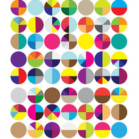 Pattern poster: Whimsical circles.