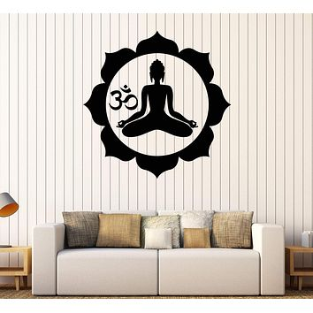 Wall Stickers Vinyl Decal Buddha Buddhism Zen Religion India Decor Unique Gift (z2055)