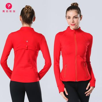 Woman Princess Yoga Serve Yoga Motion Run High Elasticity Jacket Speed Do Printing Yoga Sweater Brand Jacket
