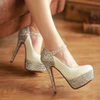 Fashion Shiny Heels Shoes
