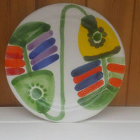 Desimone stunning handpainted plate/Italian studio art/genuine collectors plate /The fishes design/ships worldwide from UK