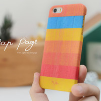 apple iphone case : rainbow stripe line from nappage