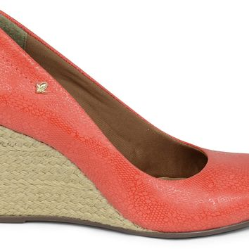 Pump Stiletto Raffia Wedge Heel - Cravo e Canela