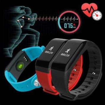 F1 Blood Pressure/Oxygen Heart Rate Monitor Smart Watch Bracelet Fitness Tracker