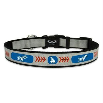 PEAPYW9 Los Angeles Dodgers Reflective Pet Collar