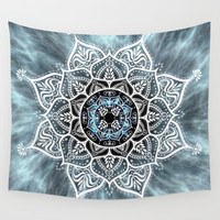 Heart Of The Moon Mandala Wall Tapestry by inspiredimages