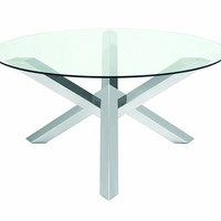 Costa Dining Table in Stainless Steel by Nuevo - HGTA526