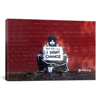 Banksy I WANT CHANGE BY MEEK