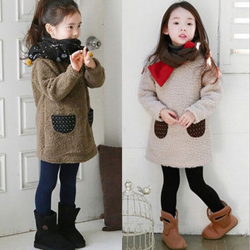 Girl Autumn and Winter Cute Long Sleeve Children's Coat = 1782446148